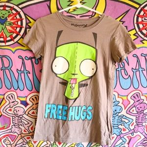 Invader Zim Free Hugs Graphic Tee Womens Medium